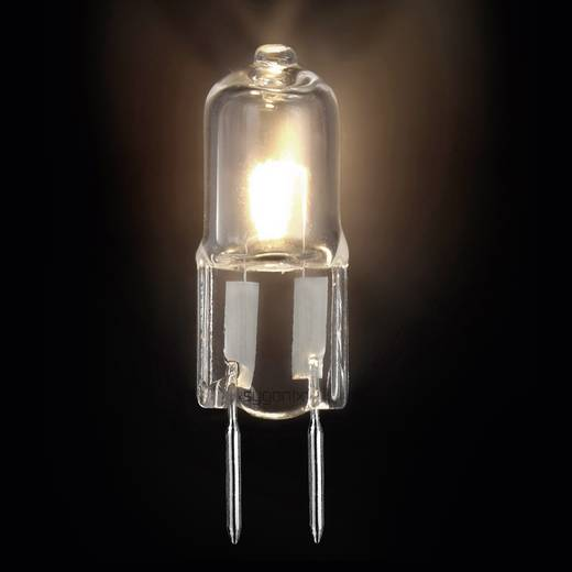 Sygonix Halogeen 50 mm 12 V G6.35 28 W Warmwit Energielabel: B Stiftfitting Dimbaar 1 stuks