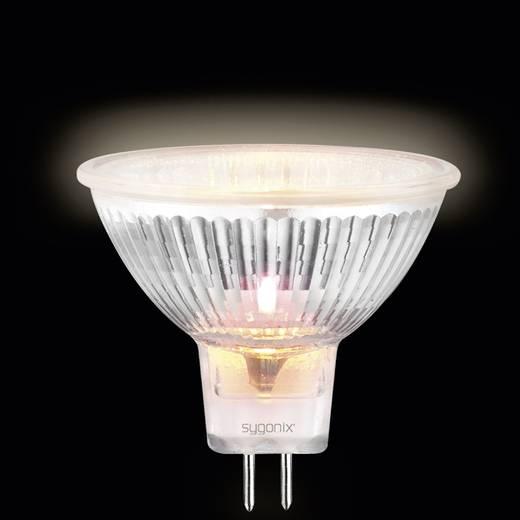 Sygonix Halogeen 46 mm 12 V GU5.3 20 W Warm-wit Energielabel: C Reflector Dimbaar 1 stuks