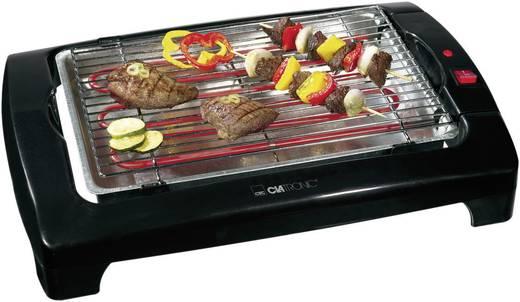 Elektrische grill Clatronic BQ 2977 Tafel Zwart