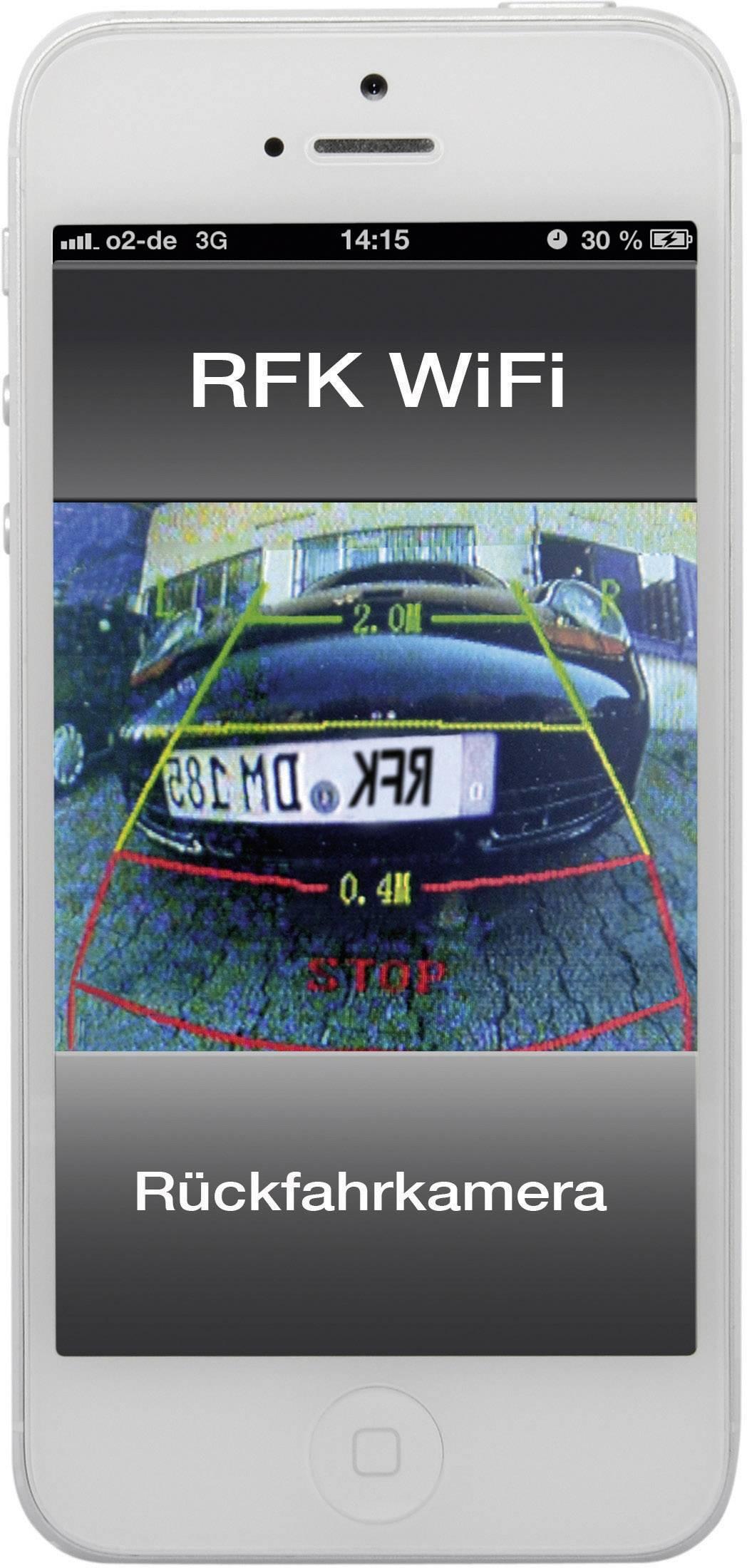 WiFi achteruitrijcamera systeem dnt RFK WiFi Extra IR-verlichting ...
