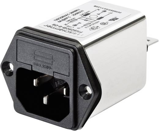 Schaffner FN 9260-2-06 Netfilter Met schakelaar, Met IEC-connector 250 V/AC 2 A 2.7 mH 1 stuks