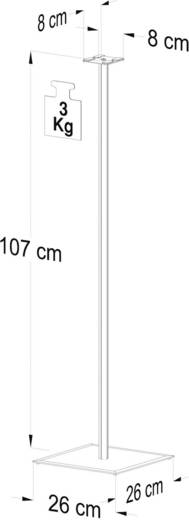 "VCM-luidsprekerstandaard voor surroundboxen ""Lugano"", aluminium en helder glas, hoogte 107 cm"