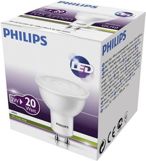 Philips LED-spot GU10 2W=20W reflector warm-wit