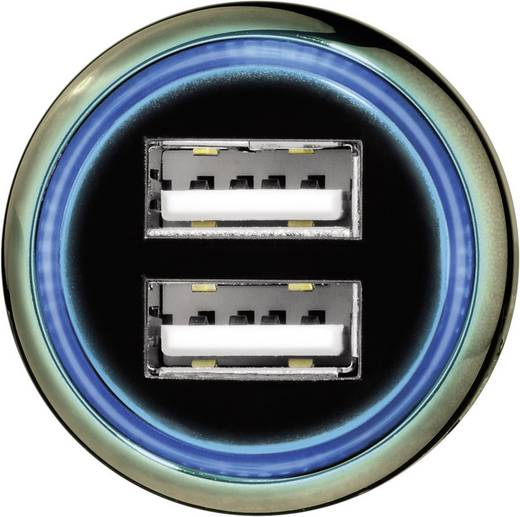 Hama 14128 USB-oplader (Autolader) Uitgangsstroom (max.) 3100 mA 2 x USB