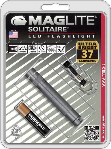 LED Mini zaklamp MAG LED Technology Solitaire 37 lm 24 g Titaangrijs