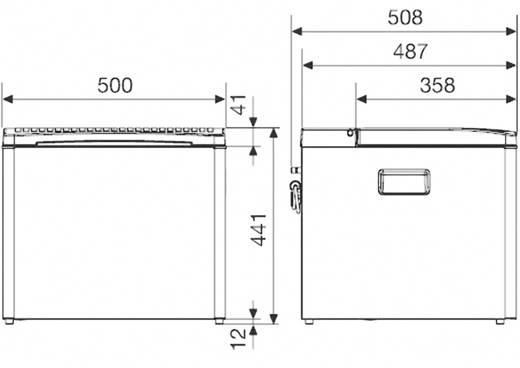 Koelbox 12 V, 230 V Vloeibaar gas 41 l Energielabel: n.v.t. Dometic Group Waeco koelbox RC1205 GC met gaspatroon