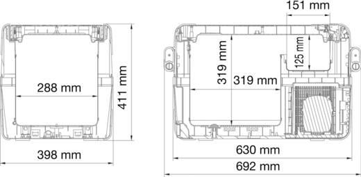 Koelbox 12 V, 24 V, 110 V, 230 V Vriesfunctie Grijs 32 l Energielabel: A++ Waeco CFX 35