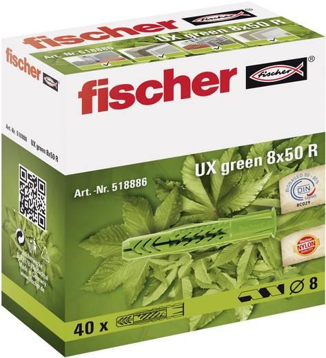 Fischer 518887 Universele plug UX green Nylon (Ø x l) 10 mm x 60 mm 20 stuks
