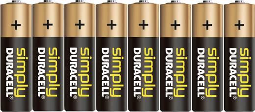 Duracell Simply LR06 AA batterij (penlite) Alkaline (Alkali-mangaan) 1.5 V 8 stuks