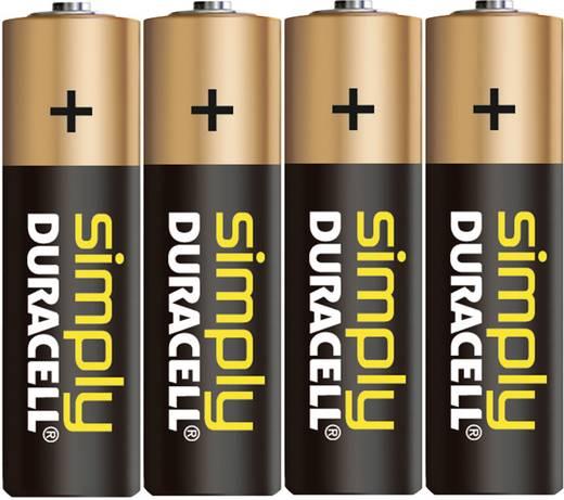 AA batterij (penlite) Duracell Simply LR06 Alkaline (Alkali-mangaan) 1.5 V 4 stuks