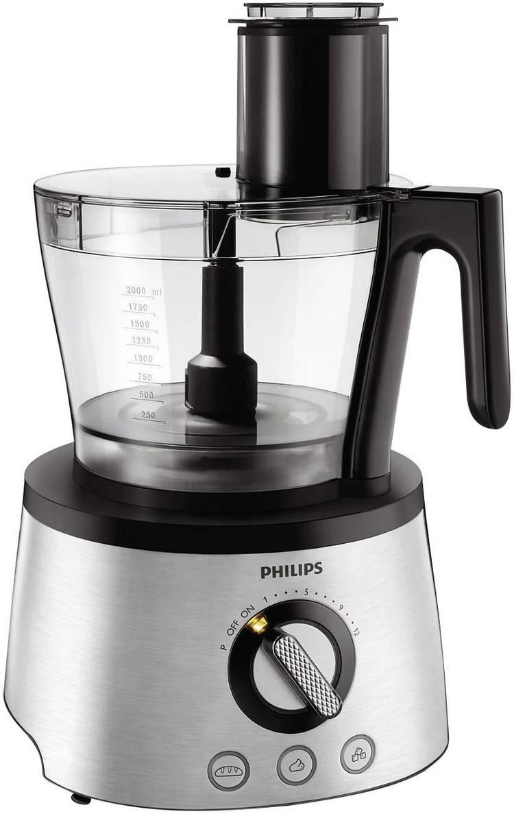 Image of Philips HR7778/00 Foodprocessor 1300 W RVS, Zwart