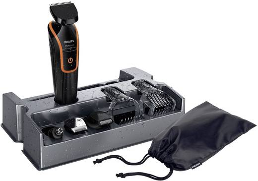 Philips QG3340/16 Tondeuse, Baardtrimmer, Oor- en neushaartrimmer Afspoelbaar Zwart, Oranje