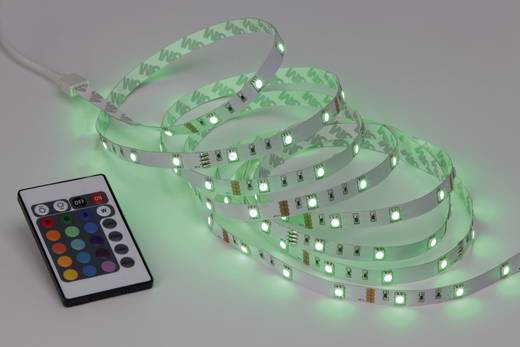 LED-strip complete set Warmwit met stekker 230 V 300 cm Brilliant set G93932A72