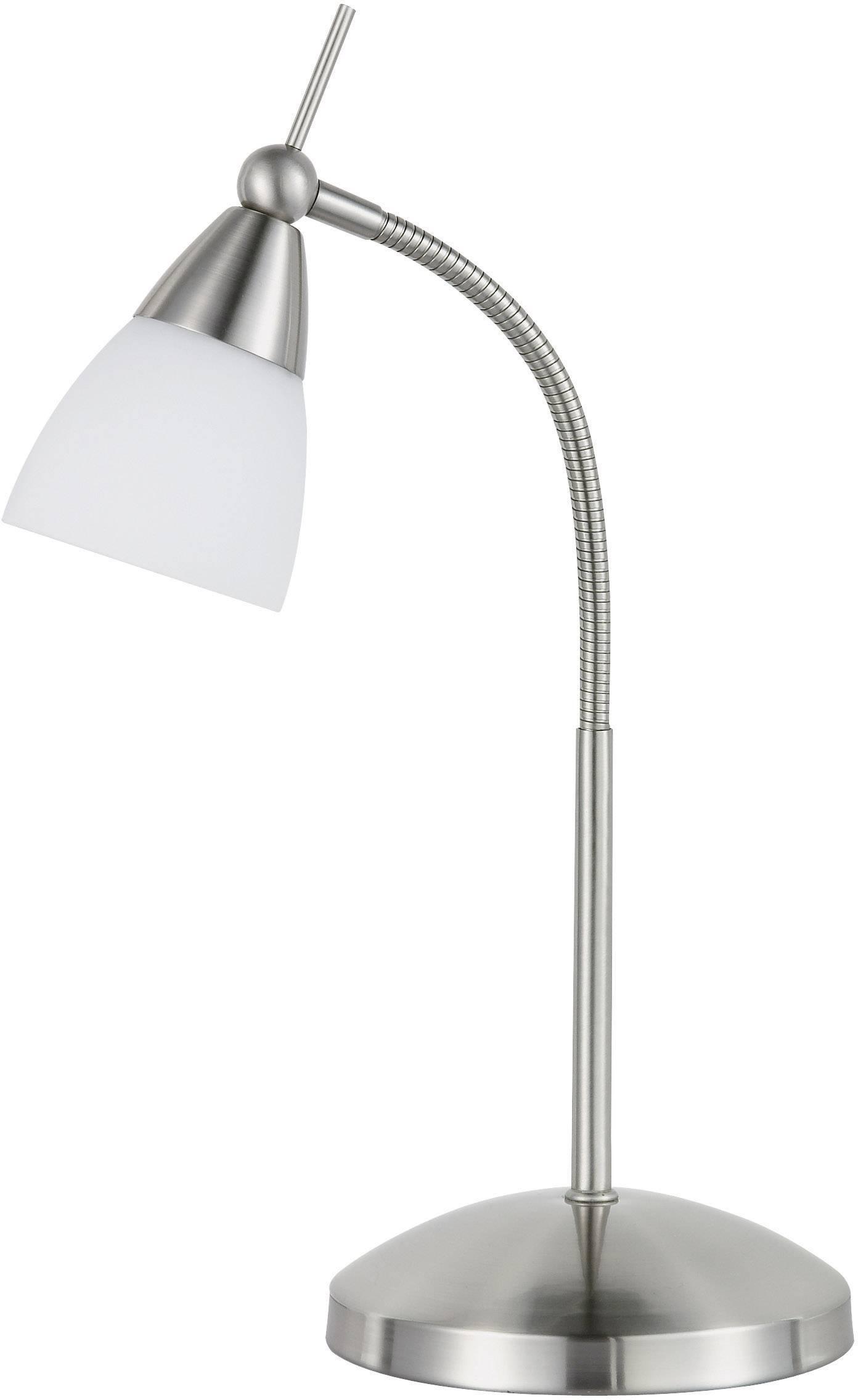 bedlamp eco halogeen g9 28 w paul neuhaus pino 4430 55 staal. Black Bedroom Furniture Sets. Home Design Ideas