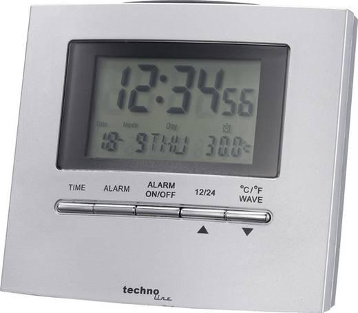 Wekker Zendergestuurd Zilver Alarmtijden: 1 Techno Line WT250