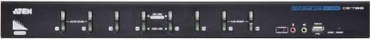 Aten CS1788 KVM-switch met 8 poorten voor USB-invoerapparatuur en dual-link DVI-grafische kaart met geluidsoverdracht