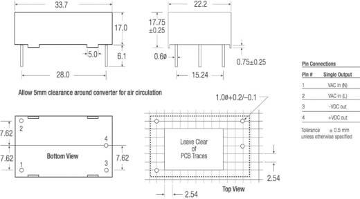 RECOM RAC01-12SC AC/DC printnetvoeding 12 V/DC 0.083 A 1 W
