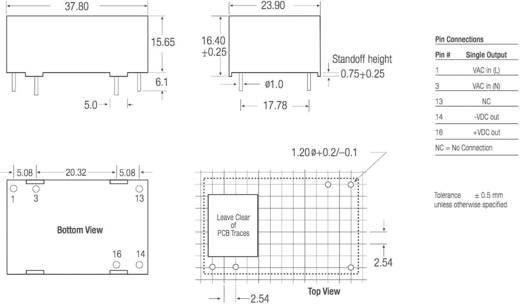 RECOM RAC03-12SC AC/DC printnetvoeding 12 V/DC 0.25 A 3 W