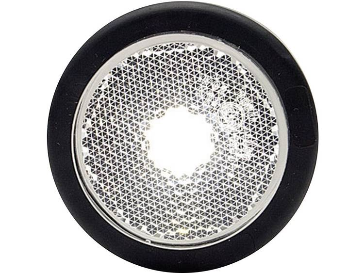 LED Markeringslicht Markeringslicht, Achterlicht, Reflector achter 12 V, 24 V Wit WAS