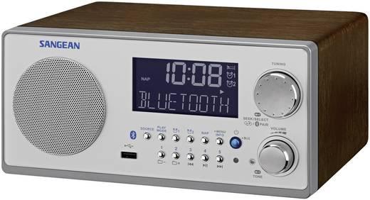 Sangean WR-22 FM Tafelradio AUX, Bluetooth, Middengolf, FM Walnoot