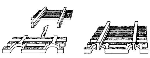 N Fleischmann rails (zonder ballastbed) 22215 Flexrails, Eindstuk