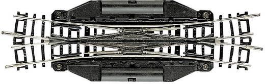 N Fleischmann rails (zonder ballastbed) 22246 Engelse wissel, Elektrisch 129.8 mm
