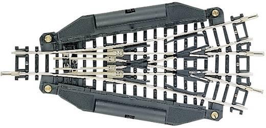 N Fleischmann rails (zonder ballastbed) 22247 Driewegwissel, Elektrisch 112.6 mm