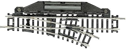N Fleischmann rails (zonder ballastbed) 22251 Wissel, Elektrisch, Rechts 104.2 mm 24 ° 194.6 mm