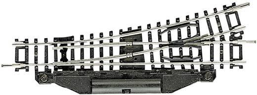 N Fleischmann rails (zonder ballastbed) 22267 Wissel, Rechts 112.6 mm