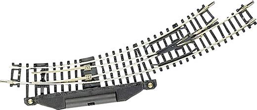 N Fleischmann rails (zonder ballastbed) 22275 Gebogen wissel, Elektrisch, Rechts