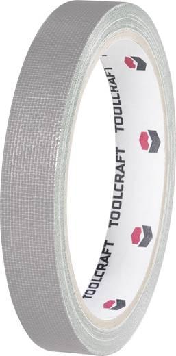 TOOLCRAFT HEB19L10AC Textieltape Grijs (l x b) 10 m x 19 mm Smeltlijm Inhoud: 1 rollen
