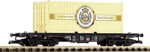 G platte wagen met Warsteiner container