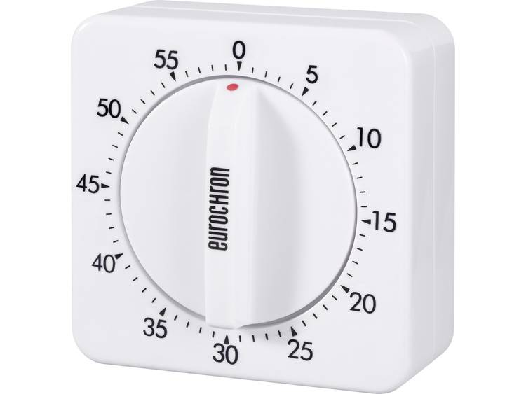 Eurochron Mechanische stopwatch 60 EAT 6000 (l x b) 70 mm x 70 mm Wit