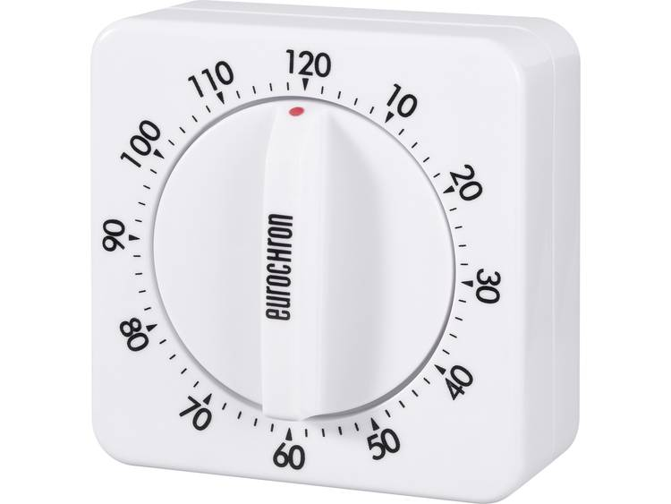Eurochron Mechanische stopwatch 120 EAT 6120 (l x b) 70 mm x 70 mm Wit