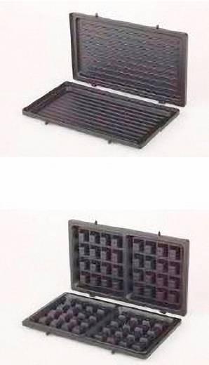 Korona 47015/ 3 in 1 Tosti-apparaat met verwisselbare platen Zwart
