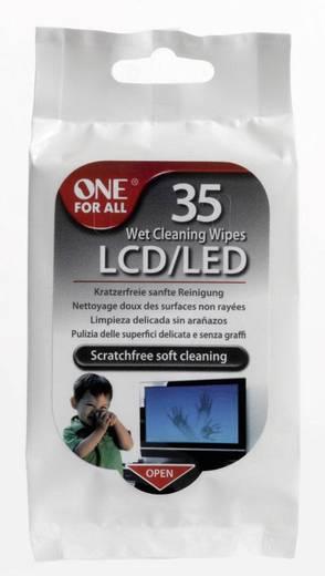 One For All SV 8404 Wet Cleaning Wipes reinigingsdoekjes LCD/led 1 pack