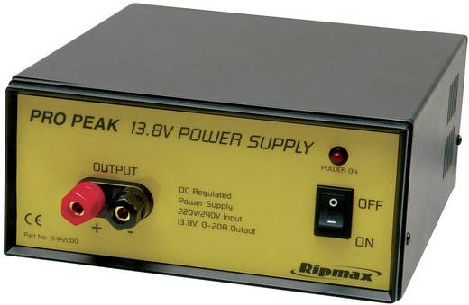 Ripmax 190 - 240 V netvoeding (13,8 V gestabiliseerd 20 A)