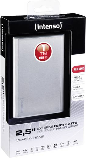 Intenso Memory Home 1 TB Externe harde schijf 6.35 cm (2.5 inch) USB 3.0 Zilver