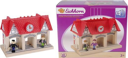 Eichhorn Houten trein Station met geluid 100001514<
