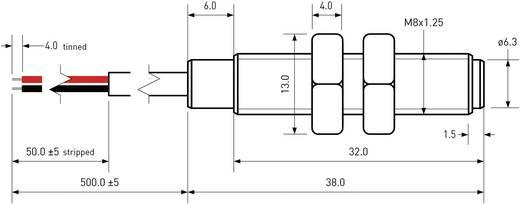 PIC MS-228M-3/971 Reedcontact 1x NO 200 V/DC, 140 V/AC 1 A 10 W