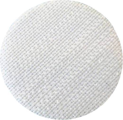 Fastech T01035000003C1 Klittenband punt om vast te plakken Haakdeel (Ø) 35 mm Wit 1 stuks