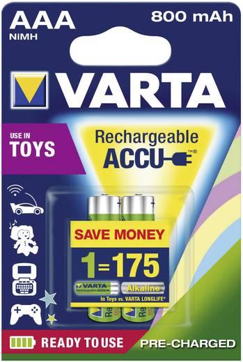 Varta Toy-batterijen HR03 AAA oplaadbare batterij (potlood) NiMH 800 mAh 1.2 V 2 stuks