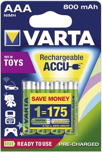 Varta Toy-Akku HR03 AAA oplaadbare batterij (potlood) NiMH 800 mAh 1.2 V 4 stuks