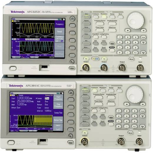 Tektronix AFG3252C arbitraire-functiegenerator, frequentiebereik 1 µHz - 250 MHz kanalen 2
