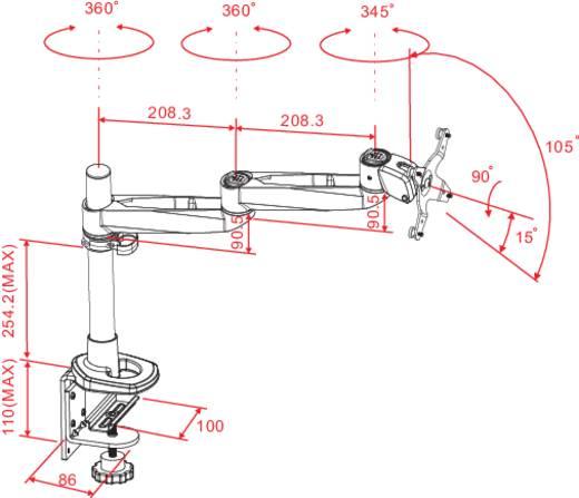 """Monitor-tafelbeugel SpeaKa Professional SuperSwivel 25,4 cm (10"""") - 76,2 cm (30"""") Kantelbaar en zwenkbaar, Roteerbaar"""