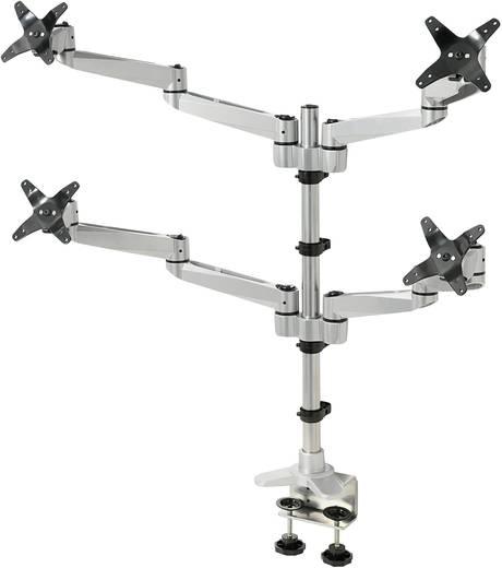 """Monitor-tafelbeugel SpeaKa Professional Swivel 4 fach 25,4 cm (10"""") - 68,6 cm (27"""") Kantelbaar en zwenkbaar, Roteerbaar"""