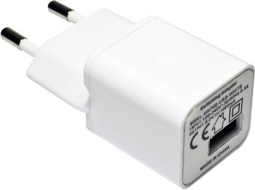 HN Power HNP05-USB-WHITE-C USB-oplader (Thuislader) Uitgangsstroom (max.) 1000 mA 1 x USB