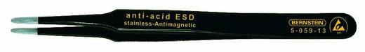 Bernstein SMD-pincet, plat, ronde punten, 2,0 mm breed, met ESD-coating Lengte 120 mm 5-059-13
