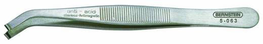 Bernstein SMD-pincet haaks 35o, met greepkom Ø 0,8 mm, 3,5 mm breed Lengte 115 mm 5-063