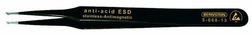 Bernstein SMD-pincet punt haaks, 1,6 mm breed, met ESD-coating Lengte 120 mm 5-068-13